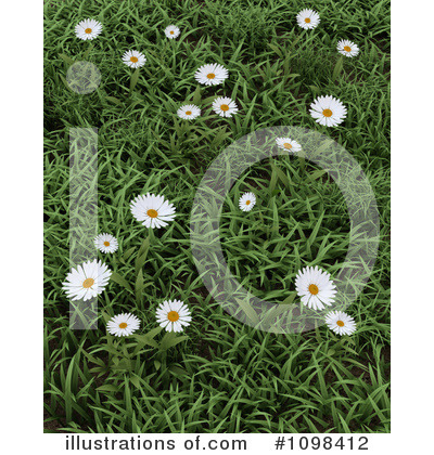 Royalty-Free (RF) Daisies Clipart Illustration by KJ Pargeter - Stock Sample #1098412