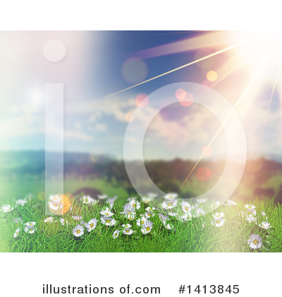Royalty-Free (RF) Daisies Clipart Illustration by KJ Pargeter - Stock Sample #1413845
