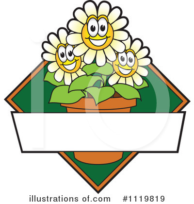 Royalty-Free (RF) Daisy Clipart Illustration by Toons4Biz - Stock Sample #1119819