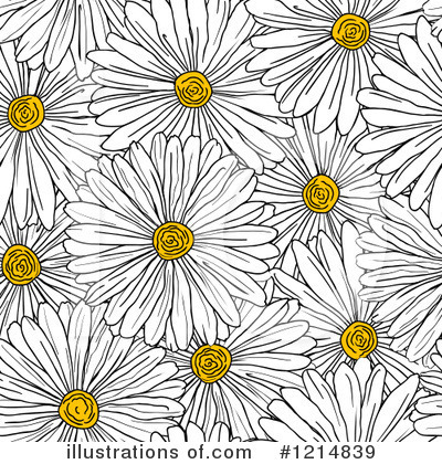 Royalty-Free (RF) Daisy Clipart Illustration by Vector Tradition SM - Stock Sample #1214839