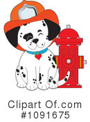 Royalty-Free (RF) Dalmatian Clipart Illustration #1091675