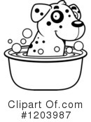 Dalmatian Clipart #1203987 by Cory Thoman