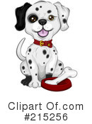 Royalty-Free (RF) Dalmatian Clipart Illustration #215256
