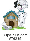 Royalty-Free (RF) Dalmatian Clipart Illustration #76285