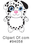 Royalty-Free (RF) Dalmatian Clipart Illustration #94058