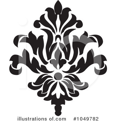 Damask Clipart #1049782 - Illustration by BestVector