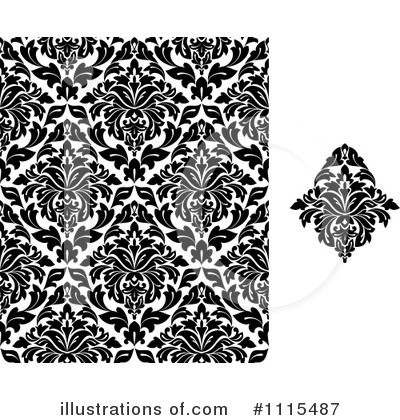 Damask Clipart #1115487 by Vector Tradition SM