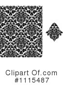 Royalty-Free (RF) Damask Clipart Illustration #1115487