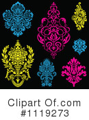 Royalty-Free (RF) Damask Clipart Illustration #1119273