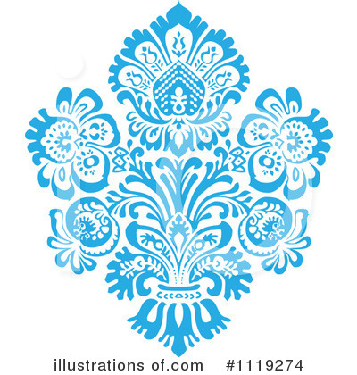 Royalty-Free (RF) Damask Clipart Illustration by BestVector - Stock Sample #1119274