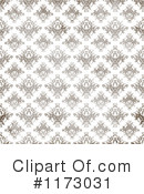 Royalty-Free (RF) Damask Clipart Illustration #1173031