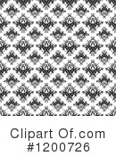 Royalty-Free (RF) Damask Clipart Illustration #1200726