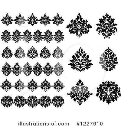 Royalty-Free (RF) Damask Clipart Illustration by Vector Tradition SM - Stock Sample #1227610
