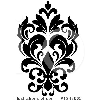 Damask Clipart #1243665 by Vector Tradition SM