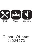 Dance Clipart #1224973 by Johnny Sajem