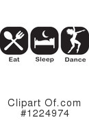 Dance Clipart #1224974 by Johnny Sajem