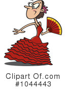 Royalty-Free (RF) dancer Clipart Illustration #1044443