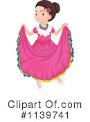 Royalty-Free (RF) Dancer Clipart Illustration #1139741