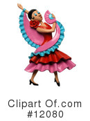 Royalty-Free (RF) dancer Clipart Illustration #12080