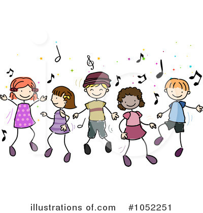 Dancing Clipart #1052251 by BNP Design Studio | Royalty-Free (RF ...