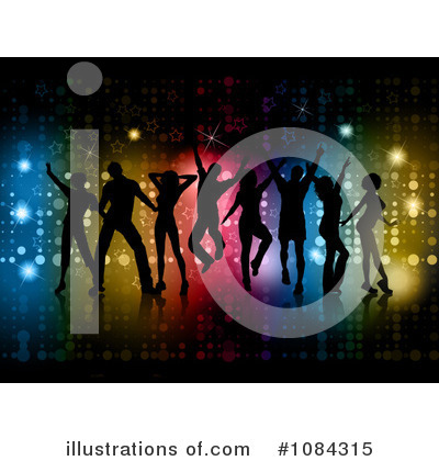 Royalty-Free (RF) Dancing Clipart Illustration by KJ Pargeter - Stock Sample #1084315