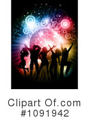 Royalty-Free (RF) dancing Clipart Illustration #1091942