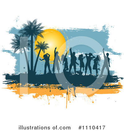 Silhouetted People Clipart #1110417 by KJ Pargeter