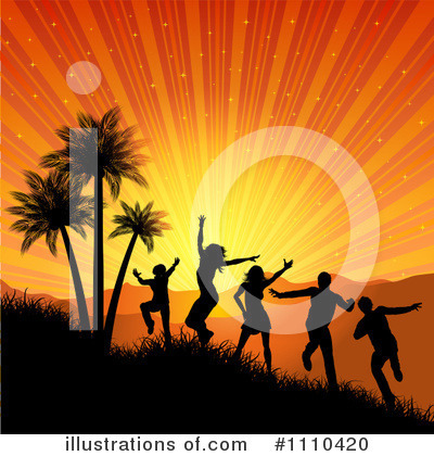 Silhouetted People Clipart #1110420 by KJ Pargeter