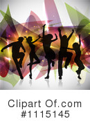 Royalty-Free (RF) Dancing Clipart Illustration #1115145