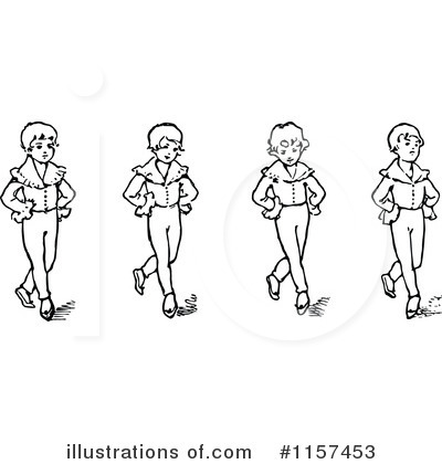 Royalty-Free (RF) Dancing Clipart Illustration by Prawny Vintage - Stock Sample #1157453