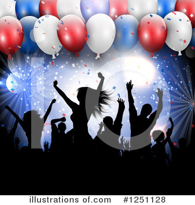 Party Balloons Clipart #1251128 by KJ Pargeter
