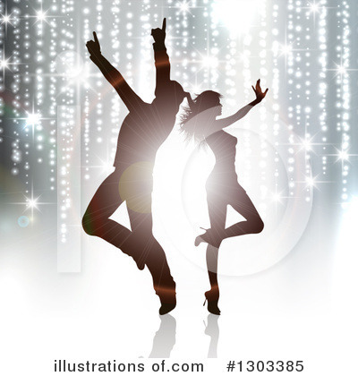 Royalty-Free (RF) Dancing Clipart Illustration by KJ Pargeter - Stock Sample #1303385