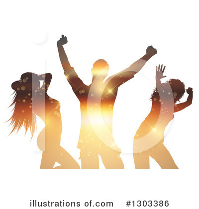 Silhouetted Dancers Clipart #1303386 by KJ Pargeter