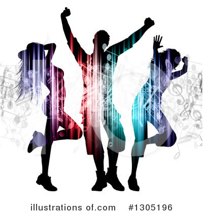 Music Notes Clipart #1305196 by KJ Pargeter