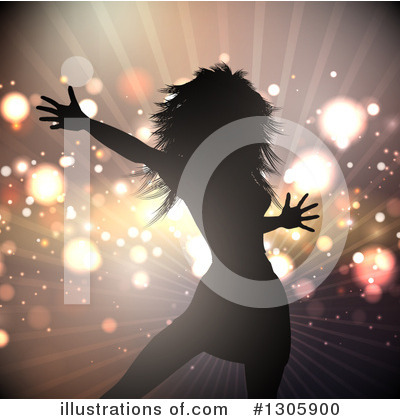 Royalty-Free (RF) Dancing Clipart Illustration by KJ Pargeter - Stock Sample #1305900