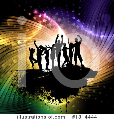 Royalty-Free (RF) Dancing Clipart Illustration by KJ Pargeter - Stock Sample #1314444