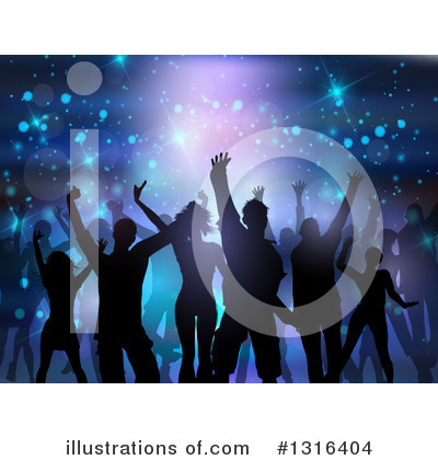 Royalty-Free (RF) Dancing Clipart Illustration by KJ Pargeter - Stock Sample #1316404