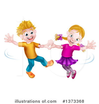 Children Clipart #1373368 by AtStockIllustration