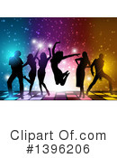 Royalty-Free (RF) Dancing Clipart Illustration #1396206