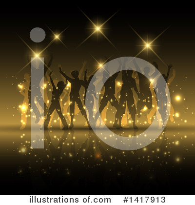 Dancing Clipart #1417913 by KJ Pargeter