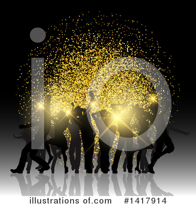 Royalty-Free (RF) Dancing Clipart Illustration by KJ Pargeter - Stock Sample #1417914