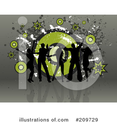 Royalty-Free (RF) Dancing Clipart Illustration by KJ Pargeter - Stock Sample #209729