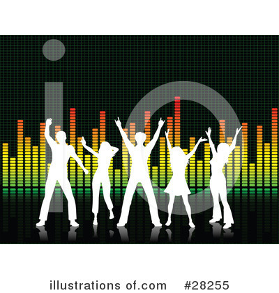 Royalty-Free (RF) Dancing Clipart Illustration by KJ Pargeter - Stock Sample #28255