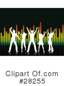 Royalty-Free (RF) dancing Clipart Illustration #28255