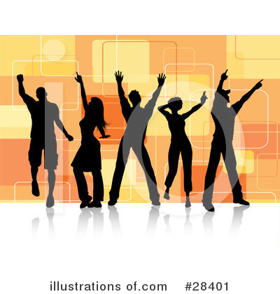 Royalty-Free (RF) Dancing Clipart Illustration by KJ Pargeter - Stock Sample #28401