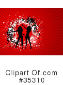 Royalty-Free (RF) Dancing Clipart Illustration #35310
