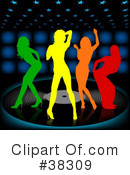 Royalty-Free (RF) Dancing Clipart Illustration #38309