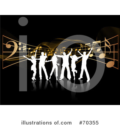 Royalty-Free (RF) Dancing Clipart Illustration by KJ Pargeter - Stock Sample #70355