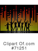 Royalty-Free (RF) dancing Clipart Illustration #71251