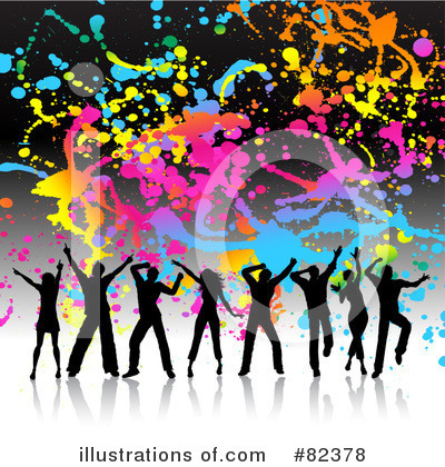 Royalty-Free (RF) Dancing Clipart Illustration by KJ Pargeter - Stock Sample #82378